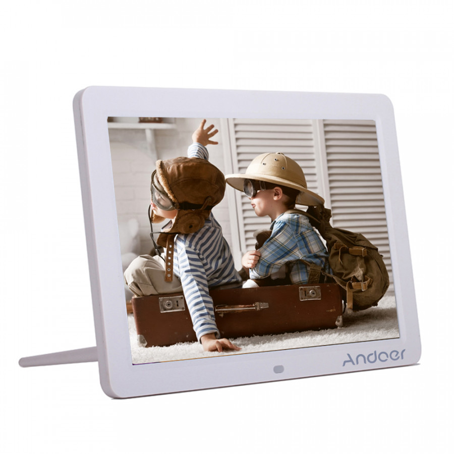 "Andoer 12"" Wide Screen HD LED Digital Picture Frame Digital Album High Resolution 1280*800 Electronic Photo Frame with"