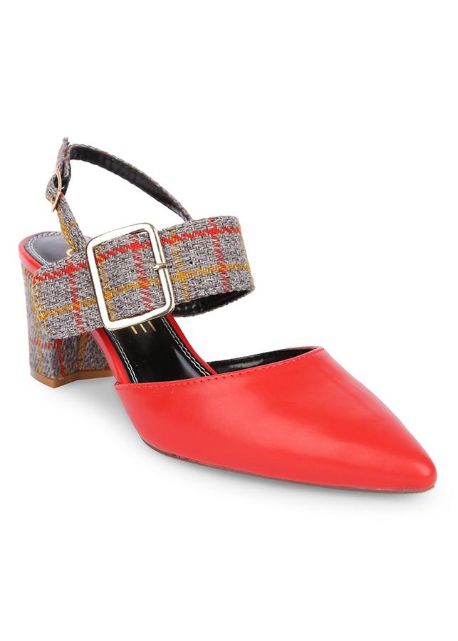 Giày Cao Gót Girlie Mũi Nhọn Trơn S35585-Đỏ