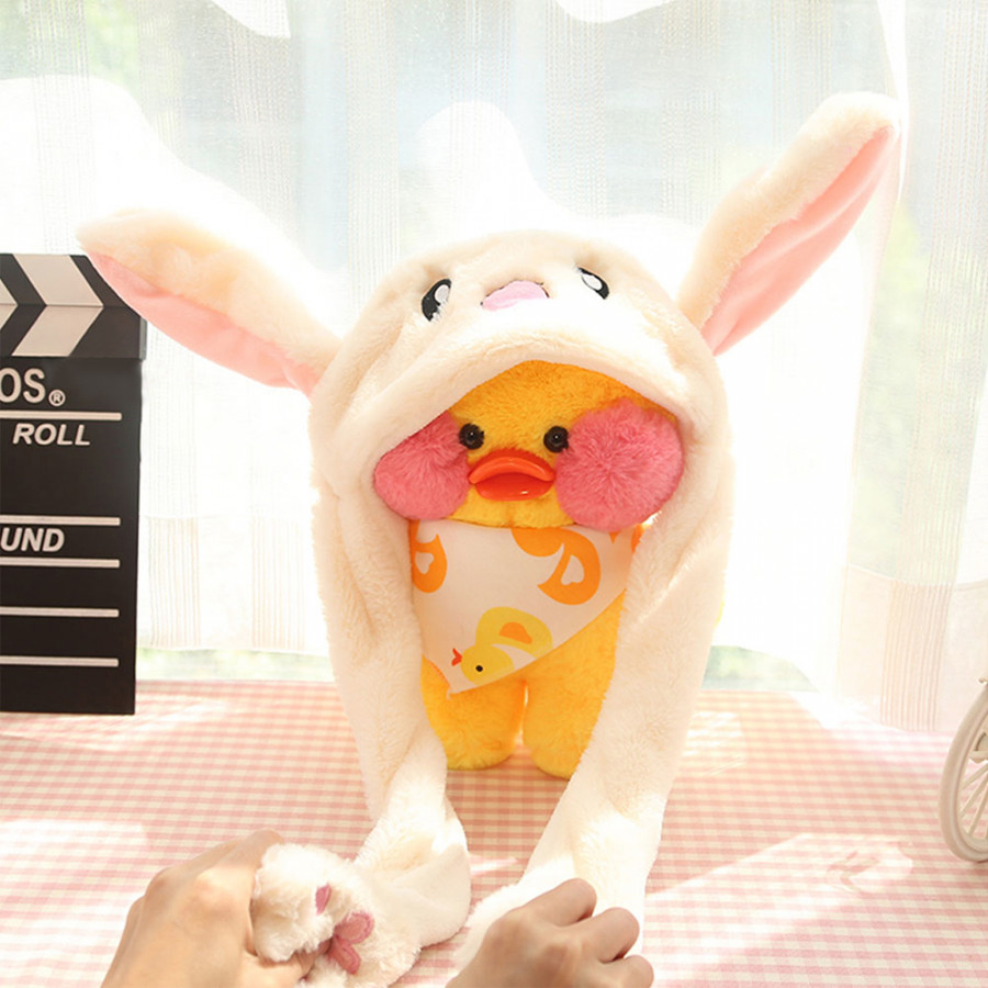 New Style Cute Funny Rabbit Hat Moving Bunny Ears Soft Plush Cap Toys Gifts