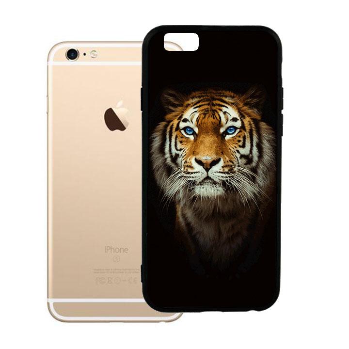 Ốp lưng viền TPU cho Iphone 6 Plus - Tiger 04