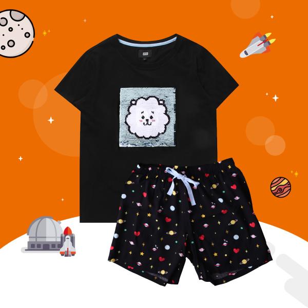 BT21 x HUNT Spangle Pajama Set Rj HILO91101T - 2325301 , 1748224430508 , 62_14994686 , 1563000 , BT21-x-HUNT-Spangle-Pajama-Set-Rj-HILO91101T-62_14994686 , tiki.vn , BT21 x HUNT Spangle Pajama Set Rj HILO91101T