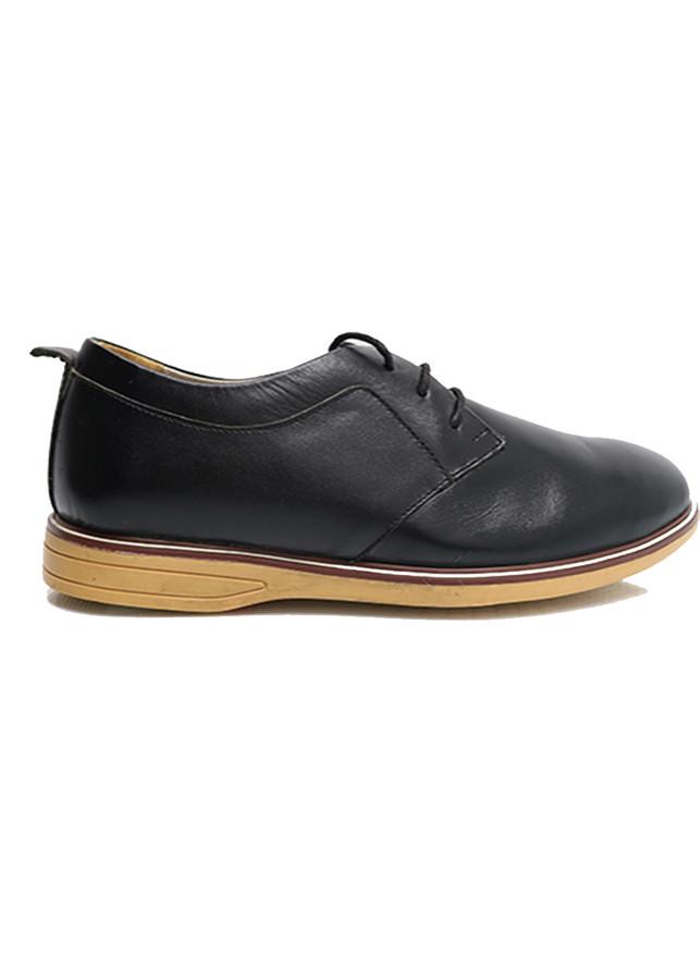 Giày thể thao buộc dây màu đen đế vàng