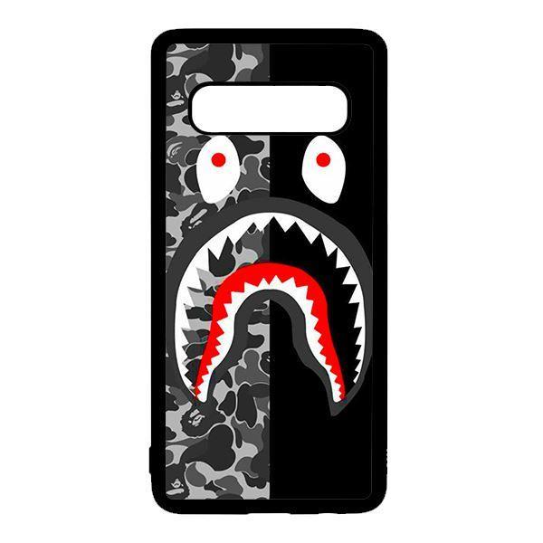 Ốp lưng điện thoại dành cho Samsung S10  Bape  Xám Đen Chia Đôi