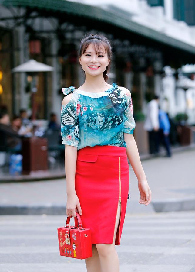 Chân váy Juyp Đỏ Khóa J106