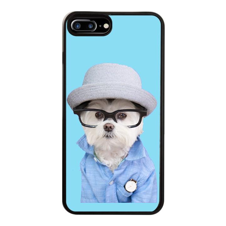 Ốp Lưng Kính Cường Lực Dành Cho Điện Thoại iPhone 7 Plus / 8 Plus Puppy Cute Mẫu 7