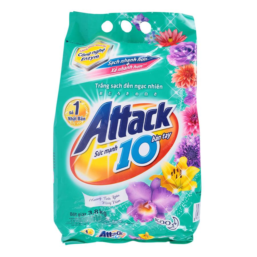 Bột Giặt Attack Hương Tình Yêu Nồng Nàn (3.8kg)