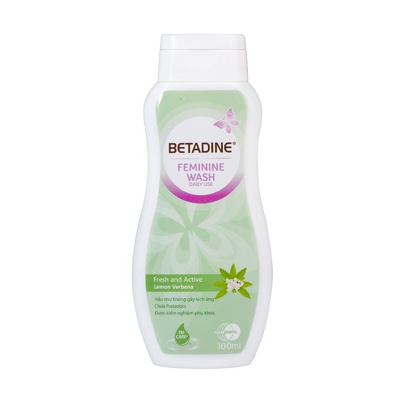 Dung dịch vệ sinh phụ nữ Betadine Fresh-Active Lemon - chai 100ml