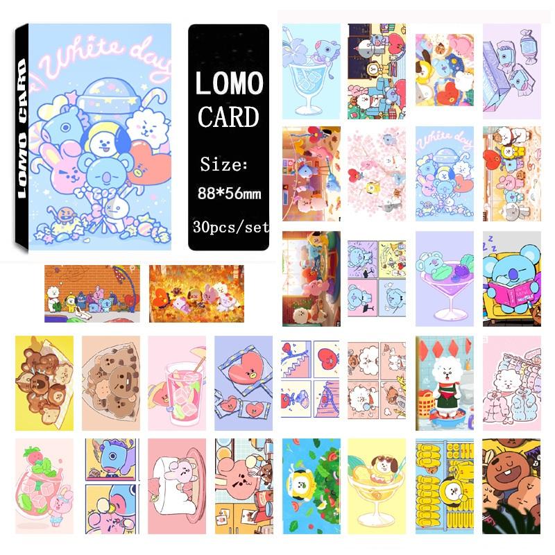 """Lomo card BT21 BTS """"WHITE DAY"""""""