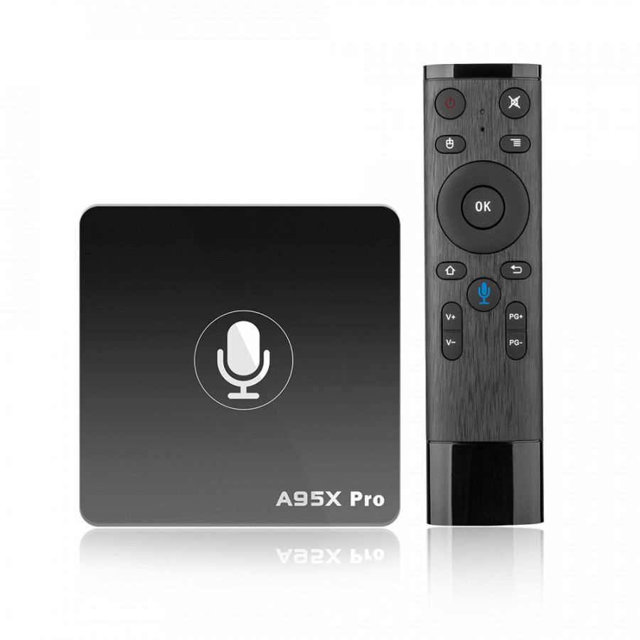 A95X Pro Android 7.1 TV Box Amlogic S905W with Voice Control Quad Core VP9 H.265 2GB / 16GB 2.4G - Black - 2158807 , 4766804787931 , 62_13795464 , 1401000 , A95X-Pro-Android-7.1-TV-Box-Amlogic-S905W-with-Voice-Control-Quad-Core-VP9-H.265-2GB--16GB-2.4G-Black-62_13795464 , tiki.vn , A95X Pro Android 7.1 TV Box Amlogic S905W with Voice Control Quad Core VP9