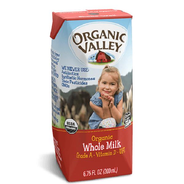 Thùng 12 hộp sữu hữu cơ nguyên kem Organic Valley 200ml