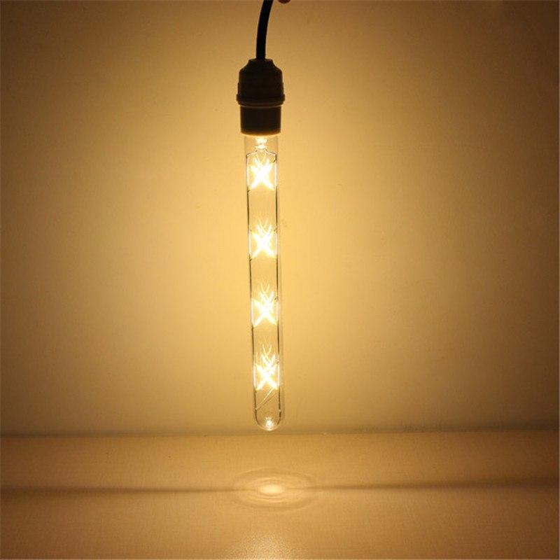 Combo 2 Bóng đèn trang trí Edison dạng ống E27 8W HT-T30