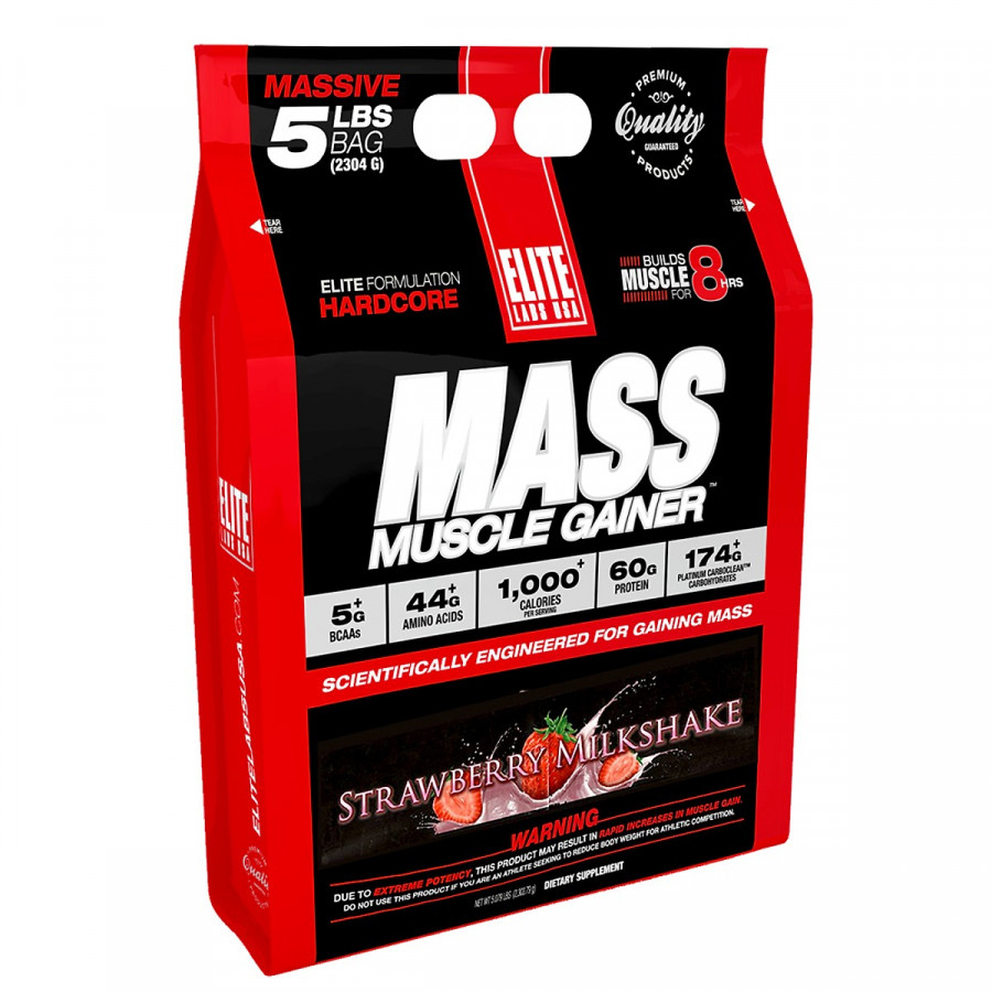 Sữa Tăng Cân Vị Strawberry Mass Muscle Gainer Elite Labs SMEL294 (2.3kg)