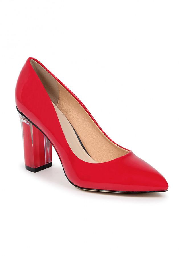 Giày cao gót vuông mica si H09006 Nados