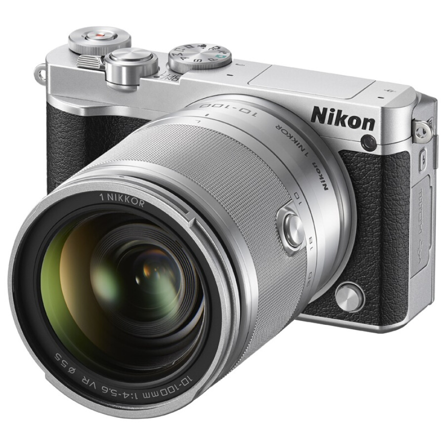 Máy Ảnh Nikon 1 J5 + Kit VR 10-100mm f / 4-5.6 (Bạc)