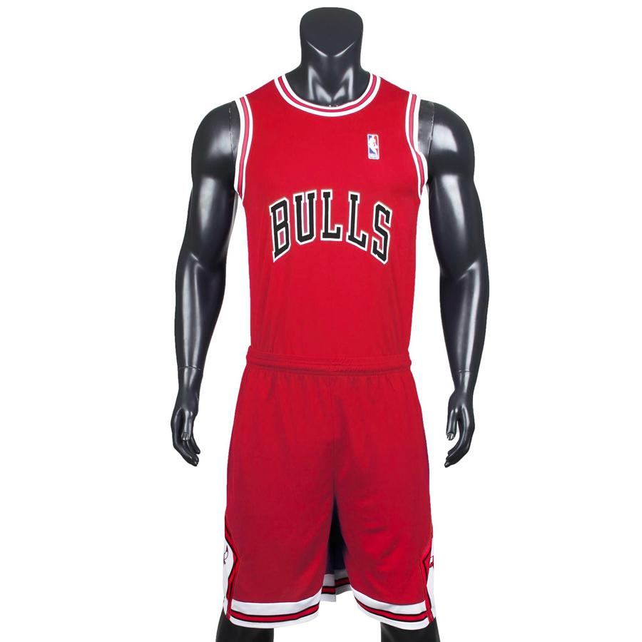 Bộ quần áo bóng rổ Bulls - Đỏ