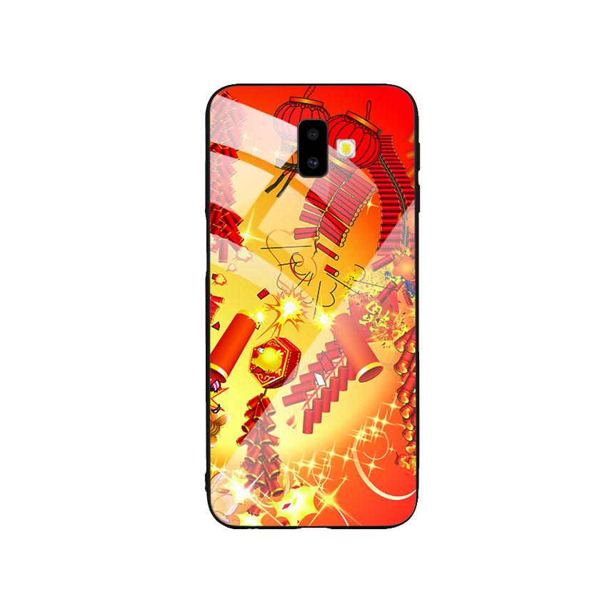 Ốp Lưng Kính Cường Lực cho điện thoại Samsung Galaxy J6 Plus - Firework 02
