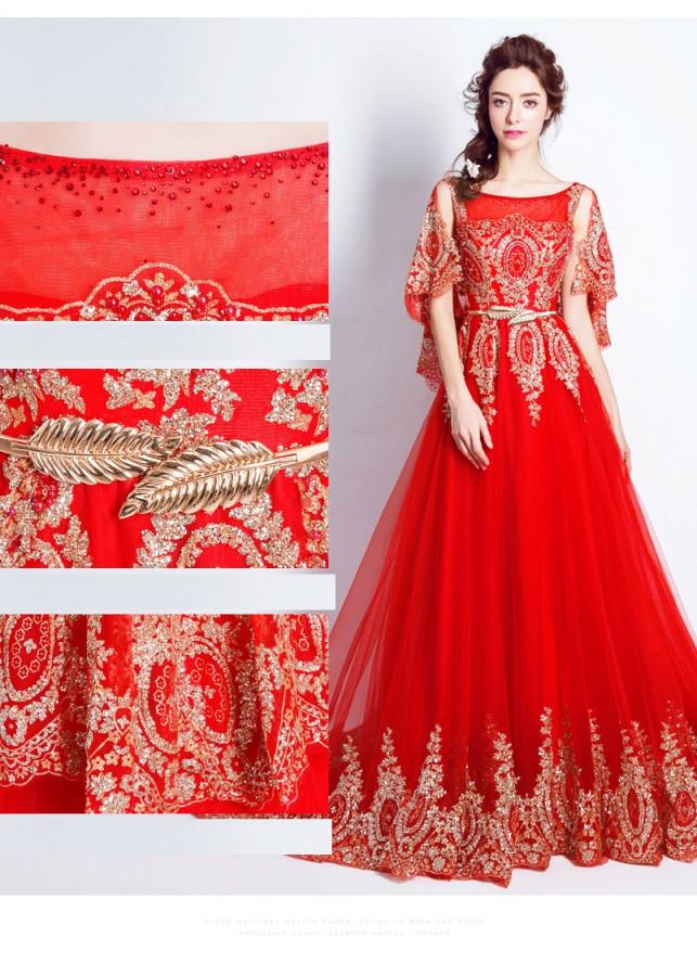 Váy Cưới_Đầm cưới_Váy Cưới đuôi dài_HVC001