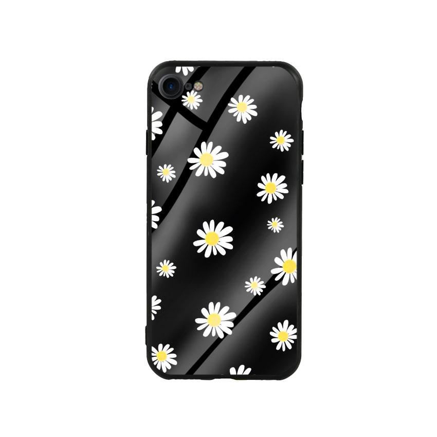 Ốp Lưng Kính Cường Lực cho điện thoại Iphone 7/8 - Cúc Họa Mi 01 - Hàng Chính Hãng