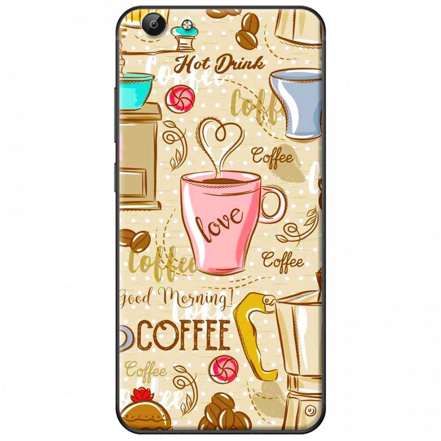 Ốp lưng dành cho Vivo Y69 mẫu Love Café