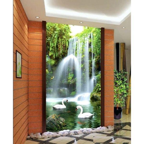 Tranh dán tường 3D thác nước TDT17 (100x150cm)