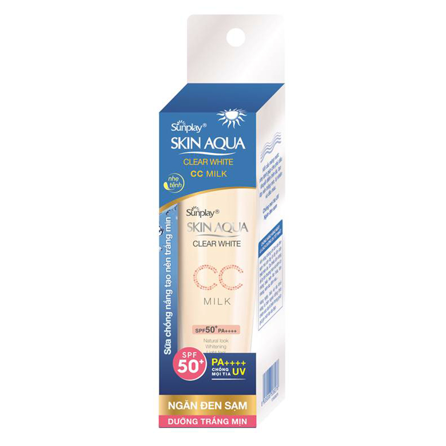 Sữa Chống Nắng Dưỡng Da Và Trang Điểm Nhẹ Sunplay Skin Aqua Clear White CC Milk SPF50+, PA++++ (25g) - 9405091 , 9543875333923 , 62_10862171 , 118000 , Sua-Chong-Nang-Duong-Da-Va-Trang-Diem-Nhe-Sunplay-Skin-Aqua-Clear-White-CC-Milk-SPF50-PA-25g-62_10862171 , tiki.vn , Sữa Chống Nắng Dưỡng Da Và Trang Điểm Nhẹ Sunplay Skin Aqua Clear White CC Milk SPF5
