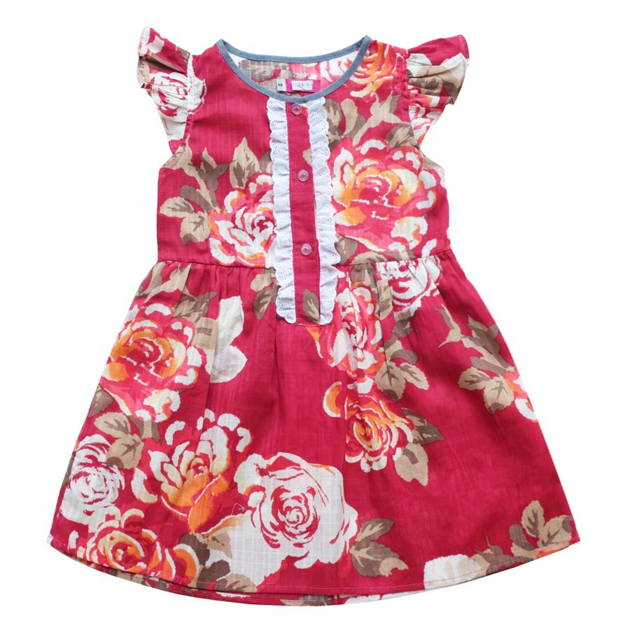 Đầm Bé Gái Hoa CucKeo Kids T121829
