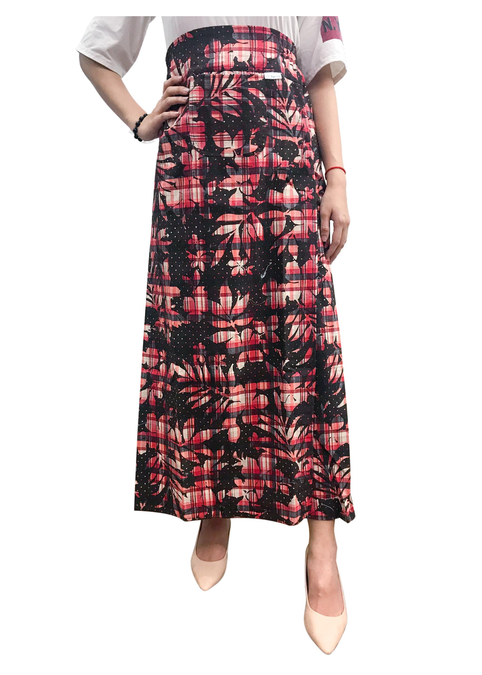 váy chống nắng loại xẻ hai tà chất liệu đũi