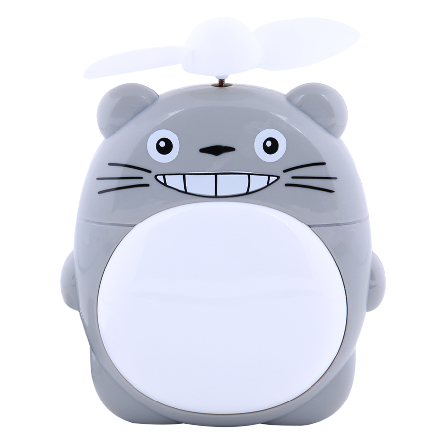 Quạt Sạc Mini Có Đèn  Totoro