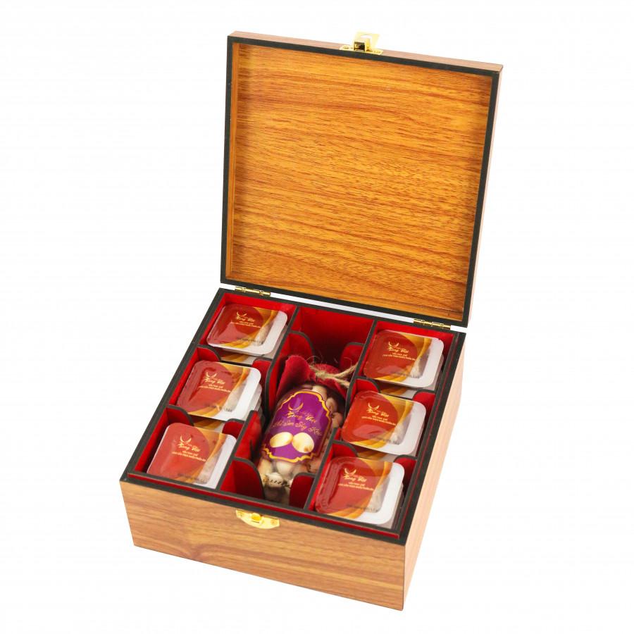 Yến tinh chế chia sẵn theo khẩu phần ăn Yến sào Song Việt (hộp quà tặng 15 viên)