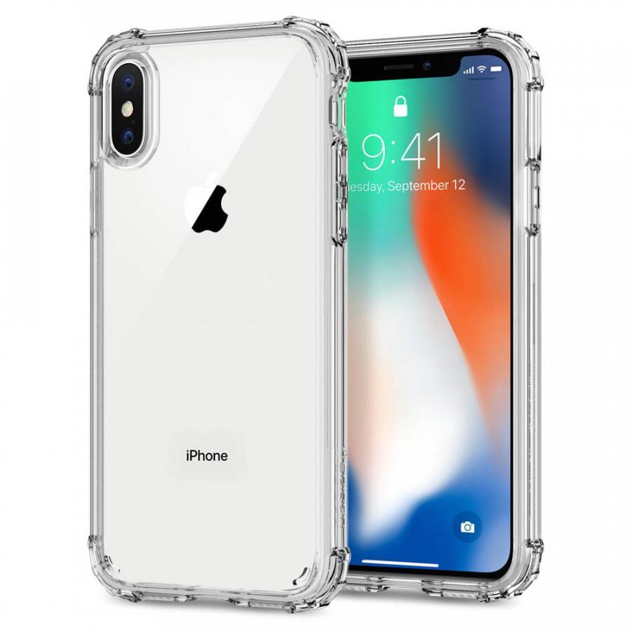 Ốp lưng iPhone X Spigen Crystal Shell (Trong suốt) - Hàng chính hãng