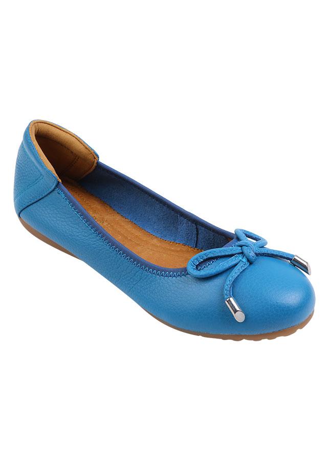 Giày Búp Bê Phối Nơ COCO DIVA SPC781 - Xanh Dương