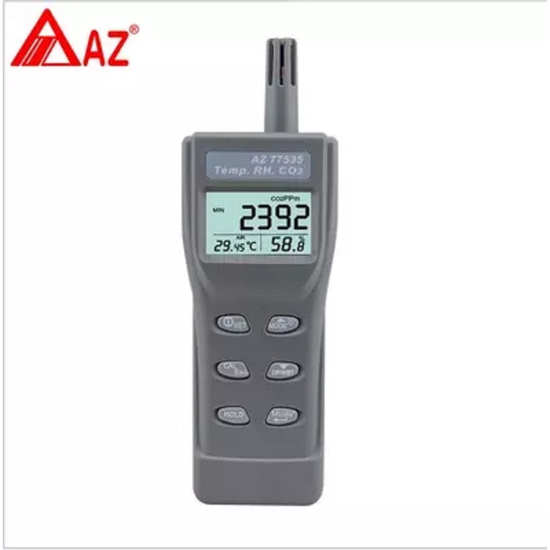 AZ77535 Carbon Dioxide Detector CO2 Tester with Temperature and Humidity Points - 16631361 , 2164541861426 , 62_27220402 , 6943000 , AZ77535-Carbon-Dioxide-Detector-CO2-Tester-with-Temperature-and-Humidity-Points-62_27220402 , tiki.vn , AZ77535 Carbon Dioxide Detector CO2 Tester with Temperature and Humidity Points