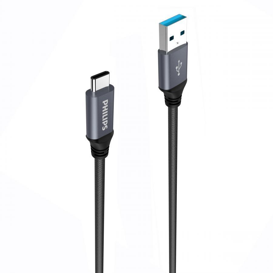 Cáp sạc USB type C siêu bền Philips DLC4530AB - 1079002 , 2910084966841 , 62_3746699 , 360000 , Cap-sac-USB-type-C-sieu-ben-Philips-DLC4530AB-62_3746699 , tiki.vn , Cáp sạc USB type C siêu bền Philips DLC4530AB