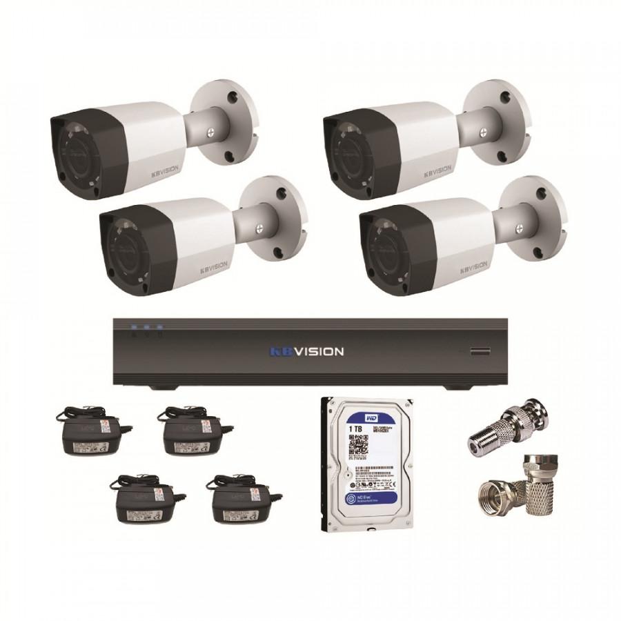Bộ 4 Camera KBVision KX-2001S4 (2.0MP) và Đầu Ghi KX-7104SD6 (1TB) - 1280967 , 6778617100737 , 62_12192520 , 5090000 , Bo-4-Camera-KBVision-KX-2001S4-2.0MP-va-Dau-Ghi-KX-7104SD6-1TB-62_12192520 , tiki.vn , Bộ 4 Camera KBVision KX-2001S4 (2.0MP) và Đầu Ghi KX-7104SD6 (1TB)