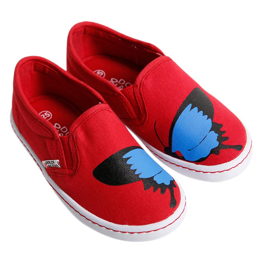 Giày Slip On Bé Gái DA BG1704 - Đỏ
