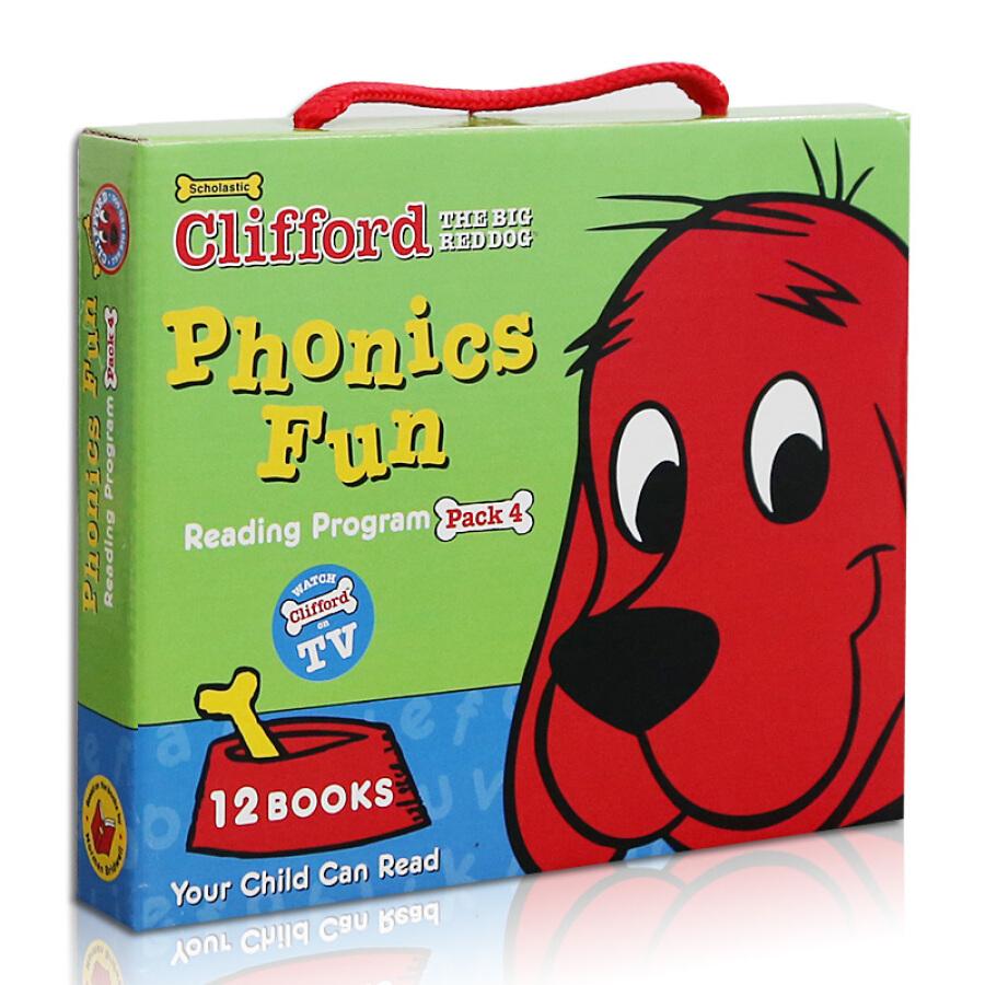 Clifford Phonics Fun Box Set #4 (Books + CD)