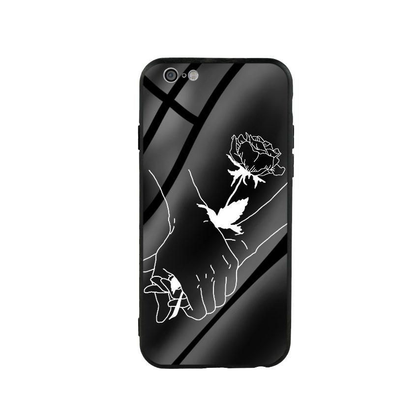 Ốp lưng kính cường lực cho điện thoại Iphone 6/6s - Love 05
