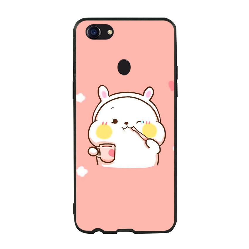 Ốp lưng viền TPU cho điện thoại Oppo F5 - Cute 06