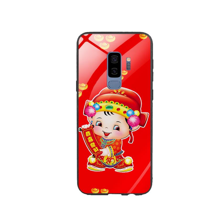 Ốp Lưng Kính Cường Lực cho điện thoại Samsung Galaxy S9 Plus - Thần Tài 05