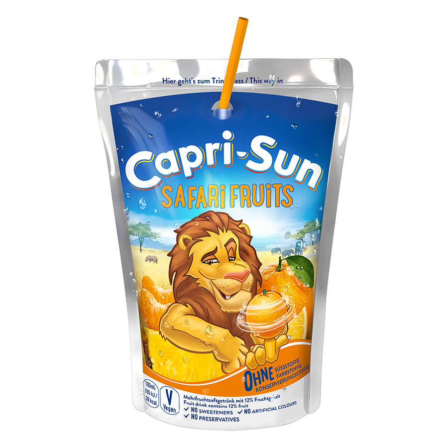Nước Trái Cây Capri Sun Vị Safari Tổng Hợp (200ml)