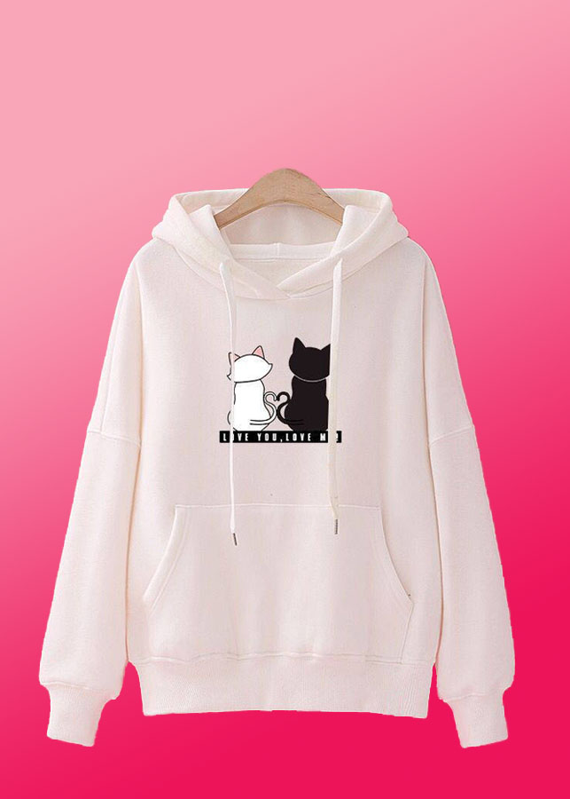 Áo khoác nữ tay dài hình hai chú mèo cá tính 147