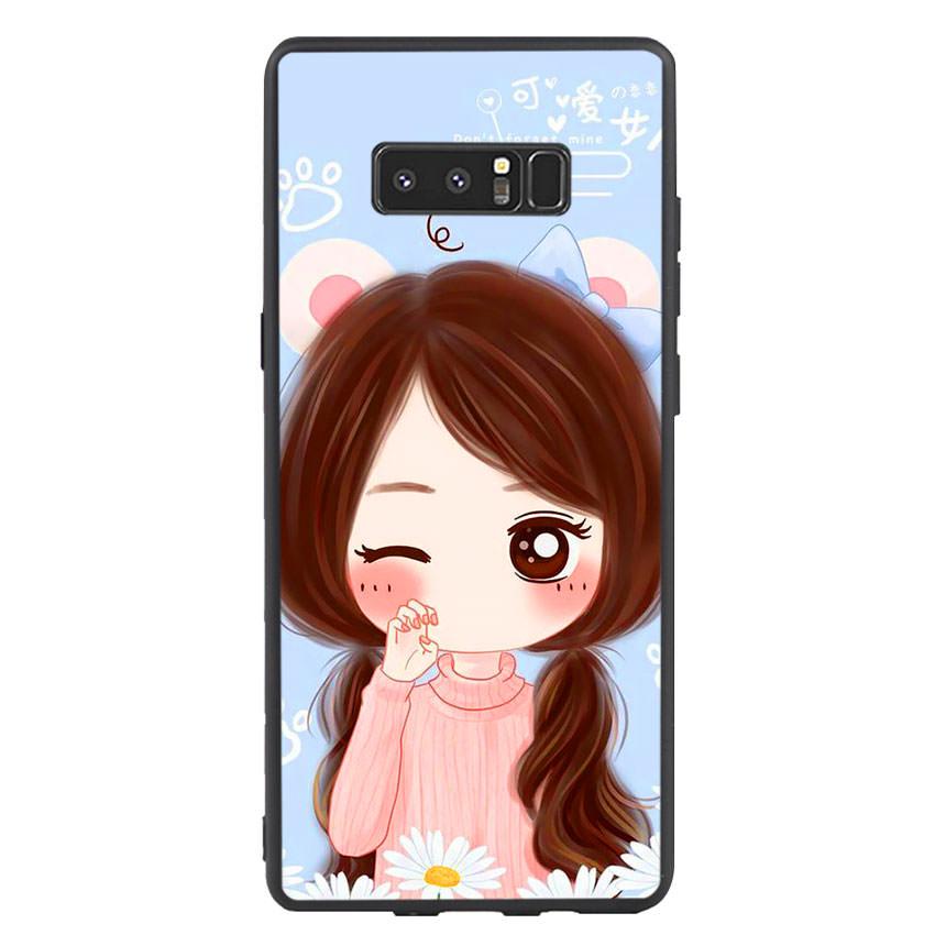 Ốp lưng nhựa cứng viền dẻo TPU cho điện thoại Samsung Galaxy Note 8 -Baby Girl