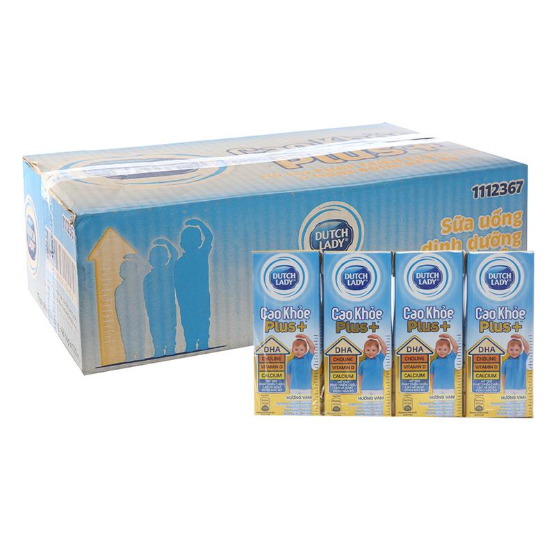 Thùng 48 Hộp Sữa Bột Pha Sẵn Dutch Lady Plus Vani (170ml / Hộp)