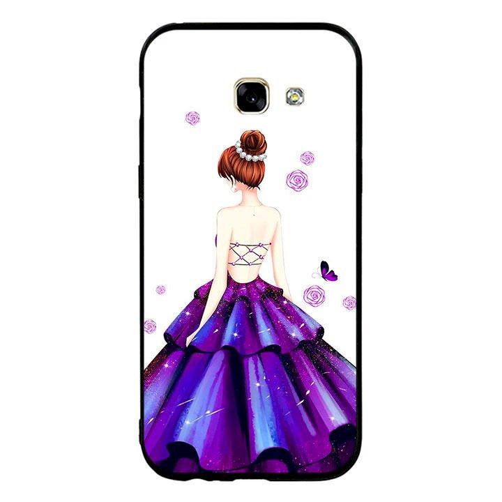 Ốp lưng viền TPU cho điện thoại Samsung Galaxy A5 2017 - Girl 06