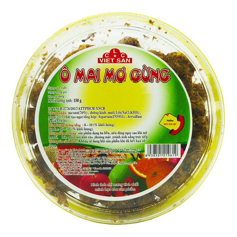 Ô Mai Mơ Gừng Việt San 150G