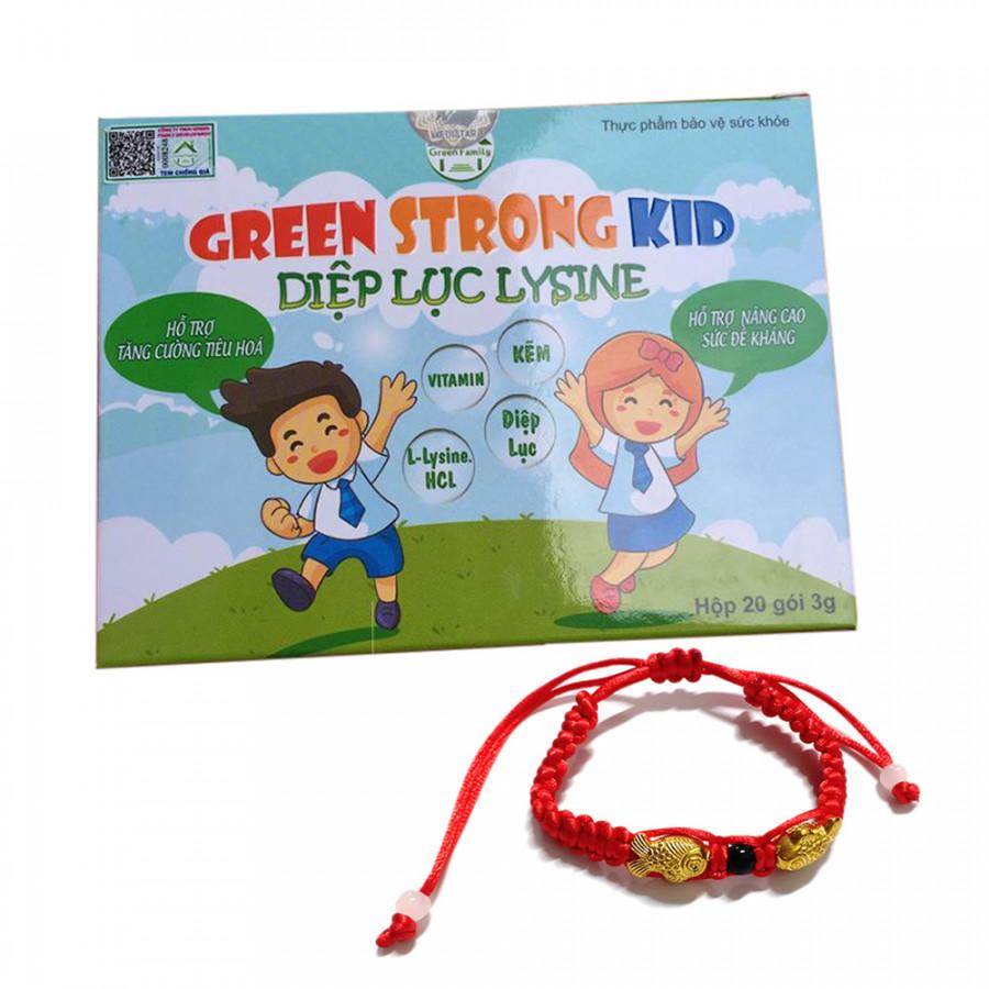 Thực phẩm chức năng bảo vệ sức khỏe Diệp lục lysine ( Diệp lục kid - Green strong kid) + Tặng kèm vòng tay Phong...