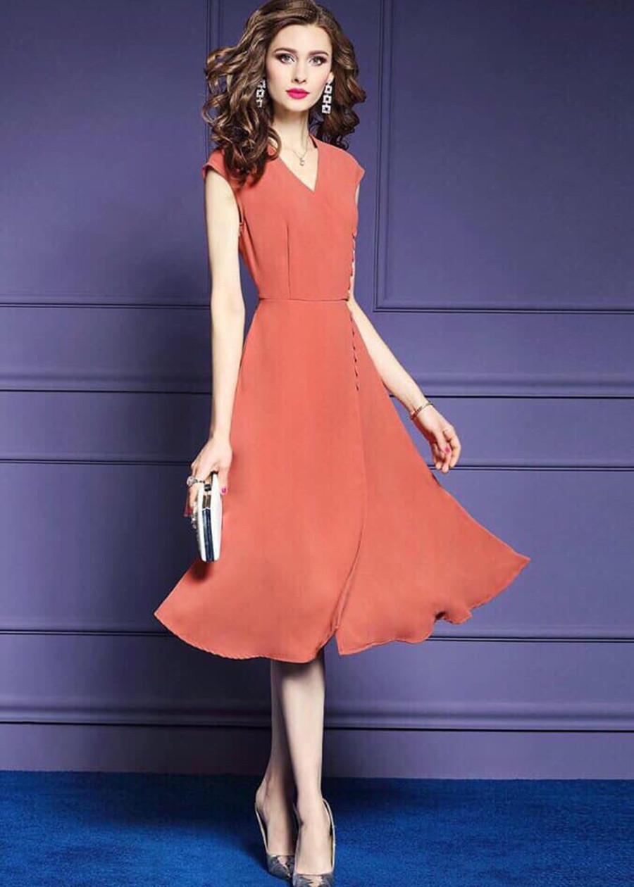 Đầm Suông Voan Đính Nút TT - SVTT138250