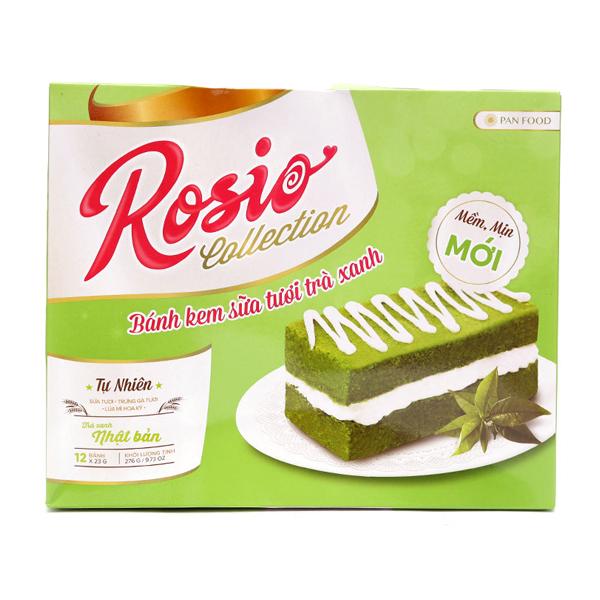 Bánh Kem Sữa Tươi Trà Xanh Nhật Bản Pan Food Rosio Collection (276g)
