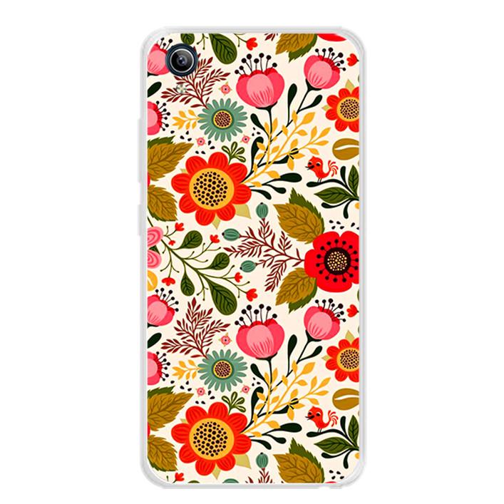 Ốp lưng dẻo cho điện thoại Vivo Y91C - 0172 FLOWER04 - Hàng Chính Hãng