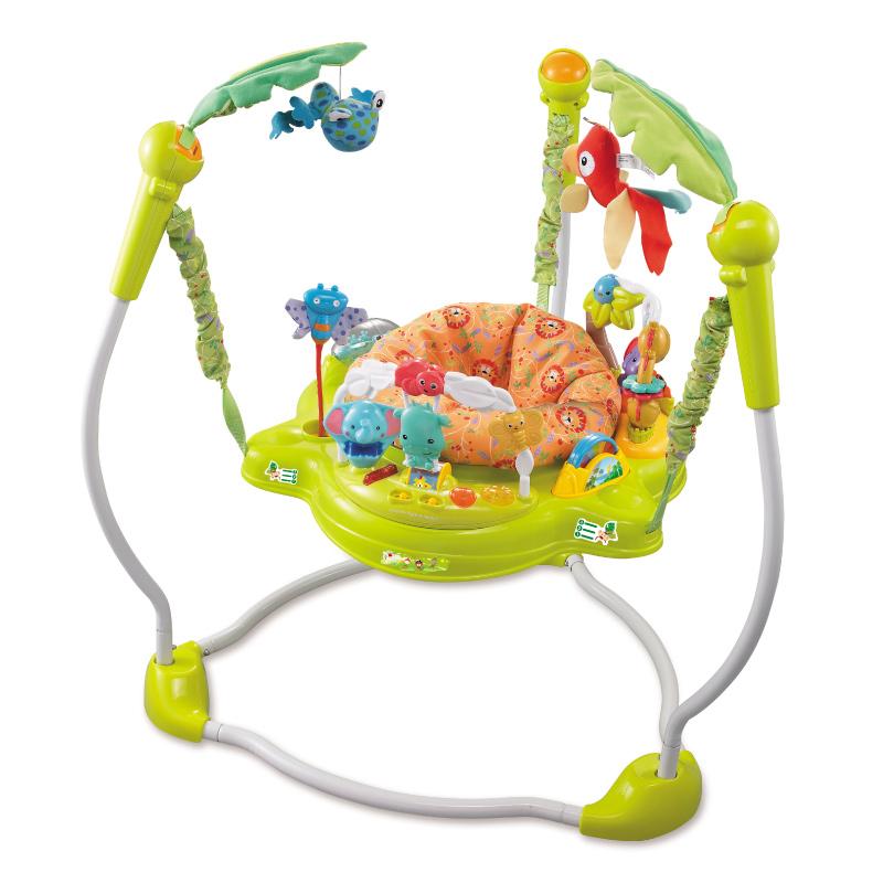 Ghế nhún Konig Kids có đèn, nhạc và thanh đồ chơi (màu ngẫu nhiên)